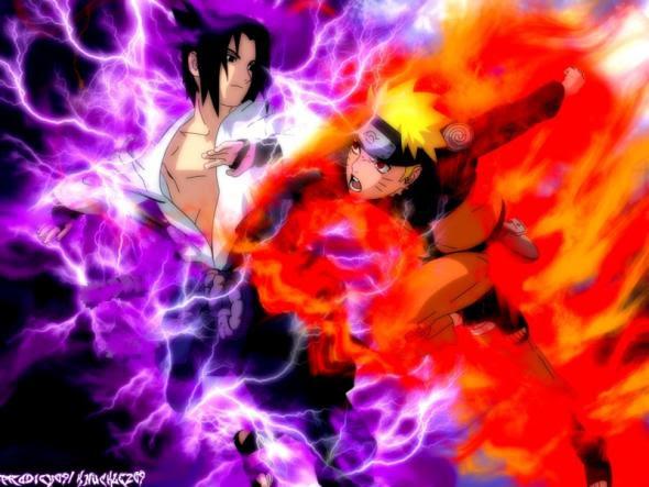 15 Gambar Anime Naruto Vs Sasuke