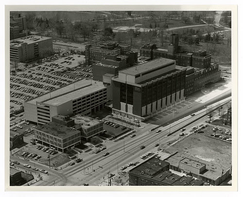 Jewish Hospital aerial view 1974