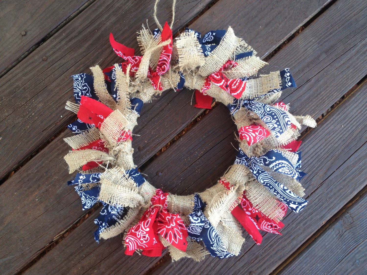 Cowboy Bandana Wreath Rustic Home Decor by CountryBarnBabe