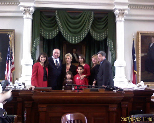 The Longoria Family at the Capitol
