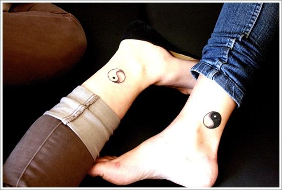 Yin Yang Tattoo Designed On Leg Design Of Tattoosdesign Of Tattoos