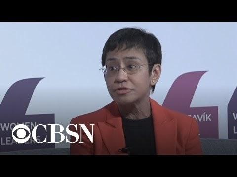 CBSN's Elaine Quijano interviews journalist Maria Ressa