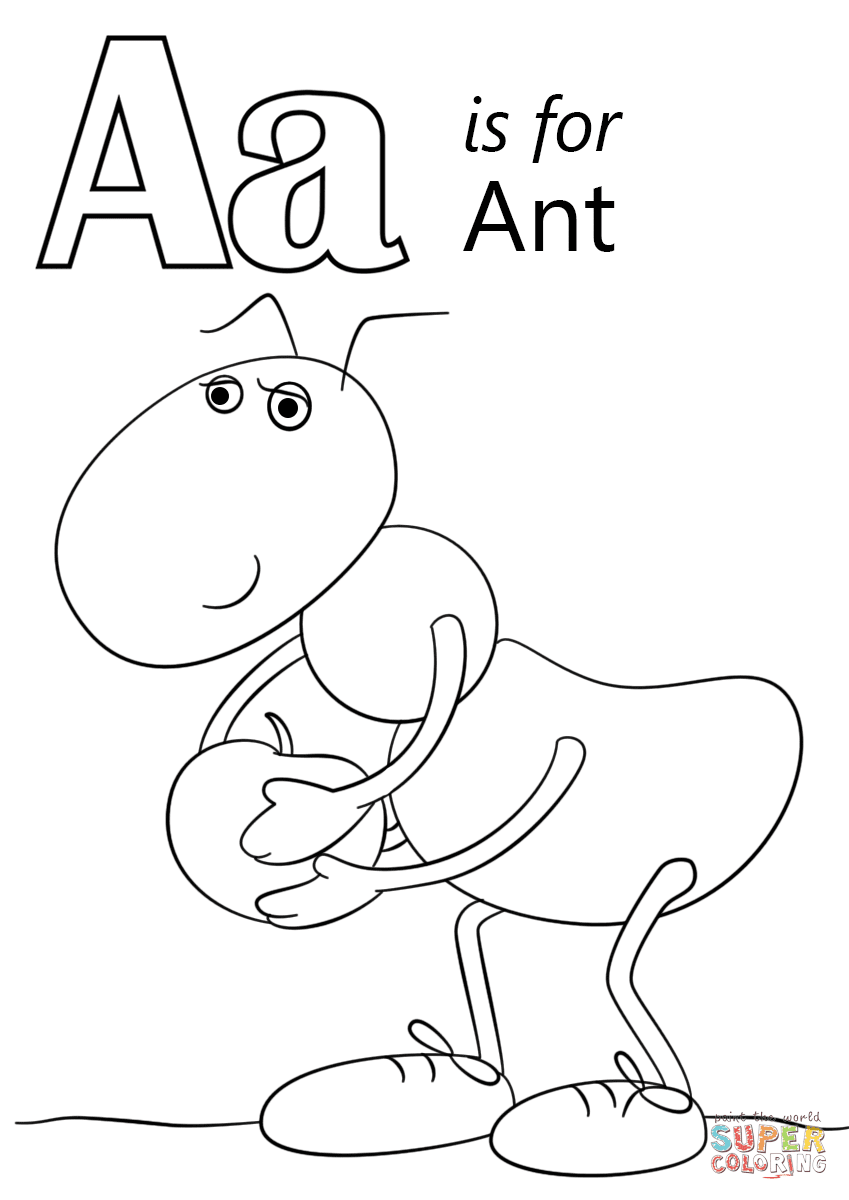 480 Coloring Pages For Letter A , Free HD Download