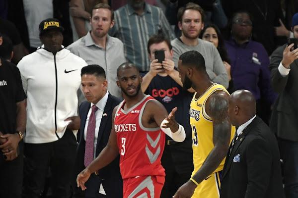 7dba4f899ab Lakers-Rockets brawl  Chris Paul claims Rajon Rondo spit on him
