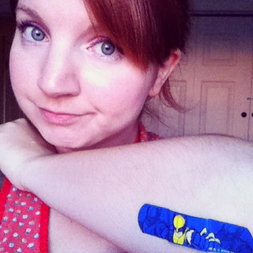 Day 22: Character - My Wolverine bandaid covering up my burn from ironing yesterday. #iggppc30d2 #iggppc #wolverine