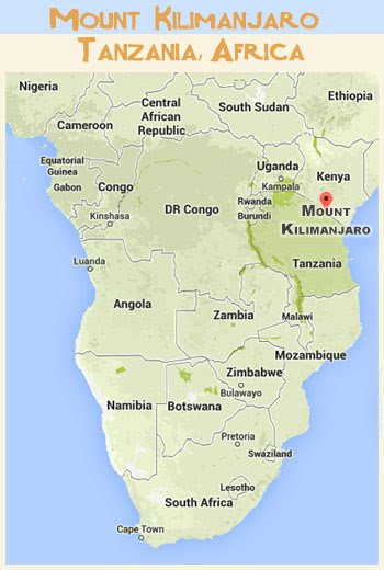 20 Awesome Kilimanjaro Africa Map