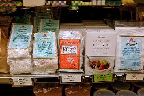 Organic kuzu powder and nigari for making tofu!