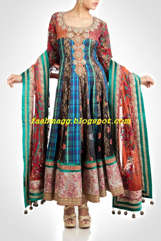 Amazing-Bridal-Wear-Indian-Fashionable-Dress-Designs-for-Cute-Girls-7