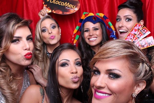 Bailarinas do Faustão fazem a festa (Foto: Domingão do Faustão/ Gshow)