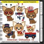 American Chihuahua Layered Templates - CU