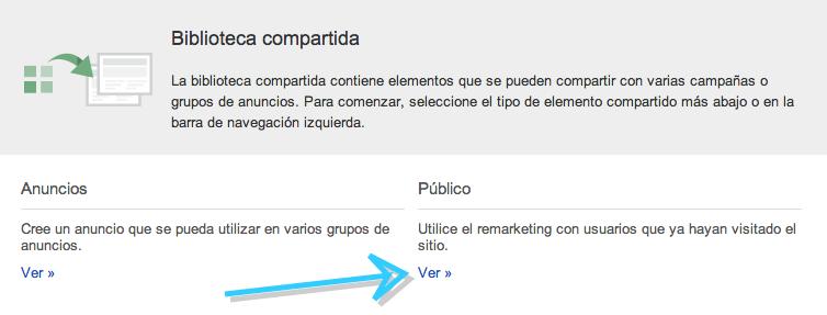 Ver Públicos de Google AdWords