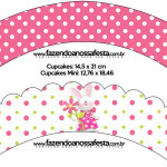 Saias Wrappers para Cupcakes Páscoa para Meninas: