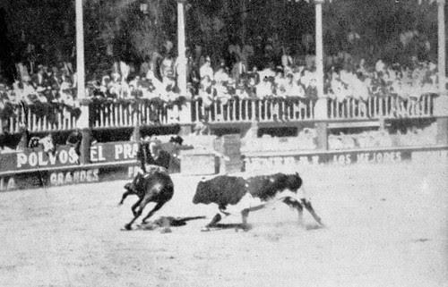 """Conchita Cintrón rejonea """"toro del miedo"""""""