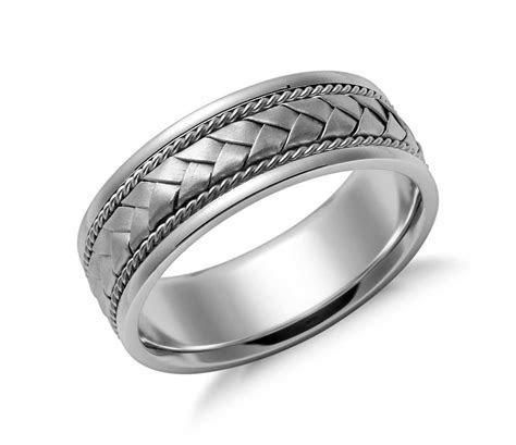 Braided Wedding Ring in 14k White Gold (7mm)   Gold