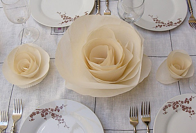 how to make flower crafts  set a simply elegant table with