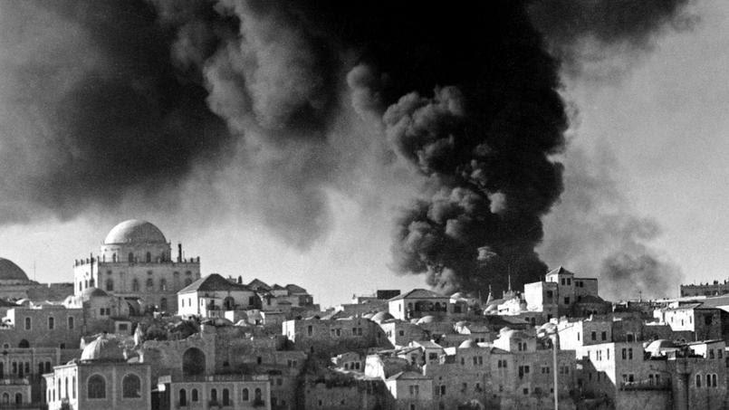 Bombardements de Jerusalem le 28 mai 1948.