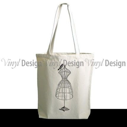 Vintage Dress Form Tote Bag AU$25.00 vinyldesign.com.au