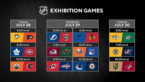 Avatar of NHL Stanley Cup schedule: League adds times, exhibition games to 2020 qualifiers