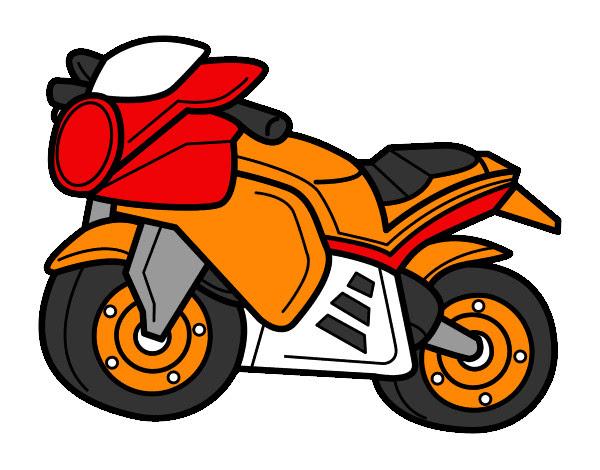 Dibujo De Moto Deportiva Pintado Por Ruben210 En Dibujosnet El Día