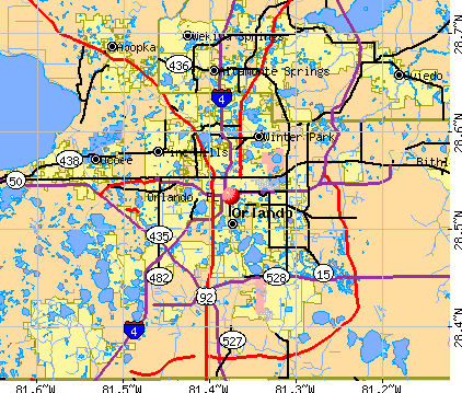 Orland Florida Map | Time Zones Map