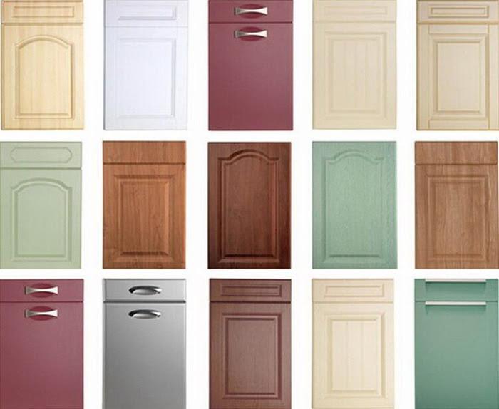 Simple Style White PVC Membrane Door Panel Kitchen Cabinet ...