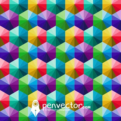 triangle full color background vector  vector vectorpic