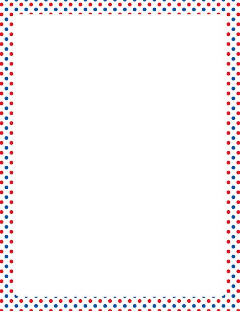 Red White And Blue Polka Dot Border Jamberry Nails Clipart