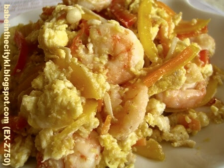 stir fried egg with prawns02