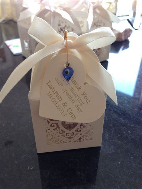 Home made Turkish English wedding favours, containing