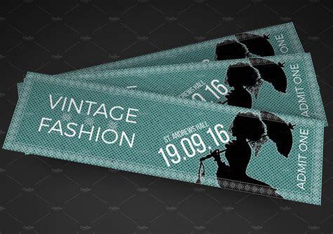 Vintage Fashion Show Ticket ~ Invitation Templates