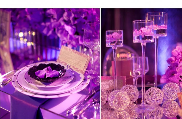 Purple Beautiful Purple Decoration Ideas Pictures for Wedding