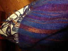 Wool angora shawl