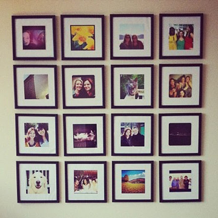How To Make An Instagram Picture Frame Gallery Wall