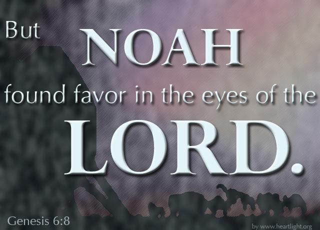 Inspirational illustration of Genesis 6:8