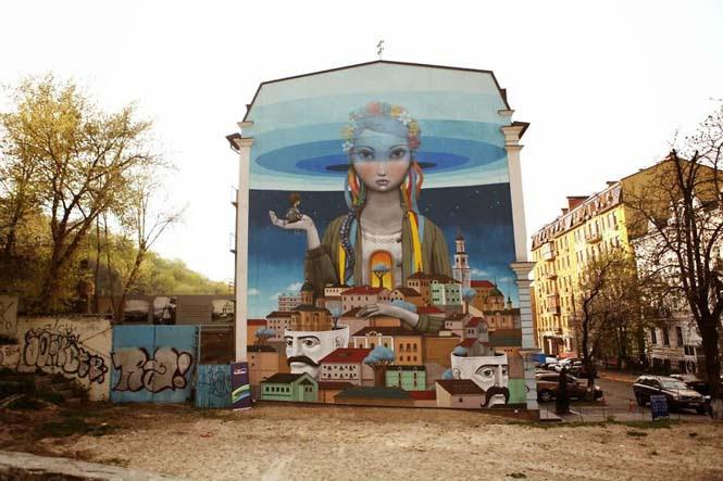 Γάλλος καλλιτέχνης μεταμορφώνει βαρετά κτήρια σε εντυπωσιακά έργα τέχνης (1)