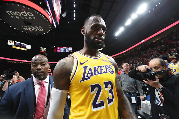 a55091c0b659 NBA  Portland Trail Blazers spoil LeBron James  debut for the Los Angeles  Lakers