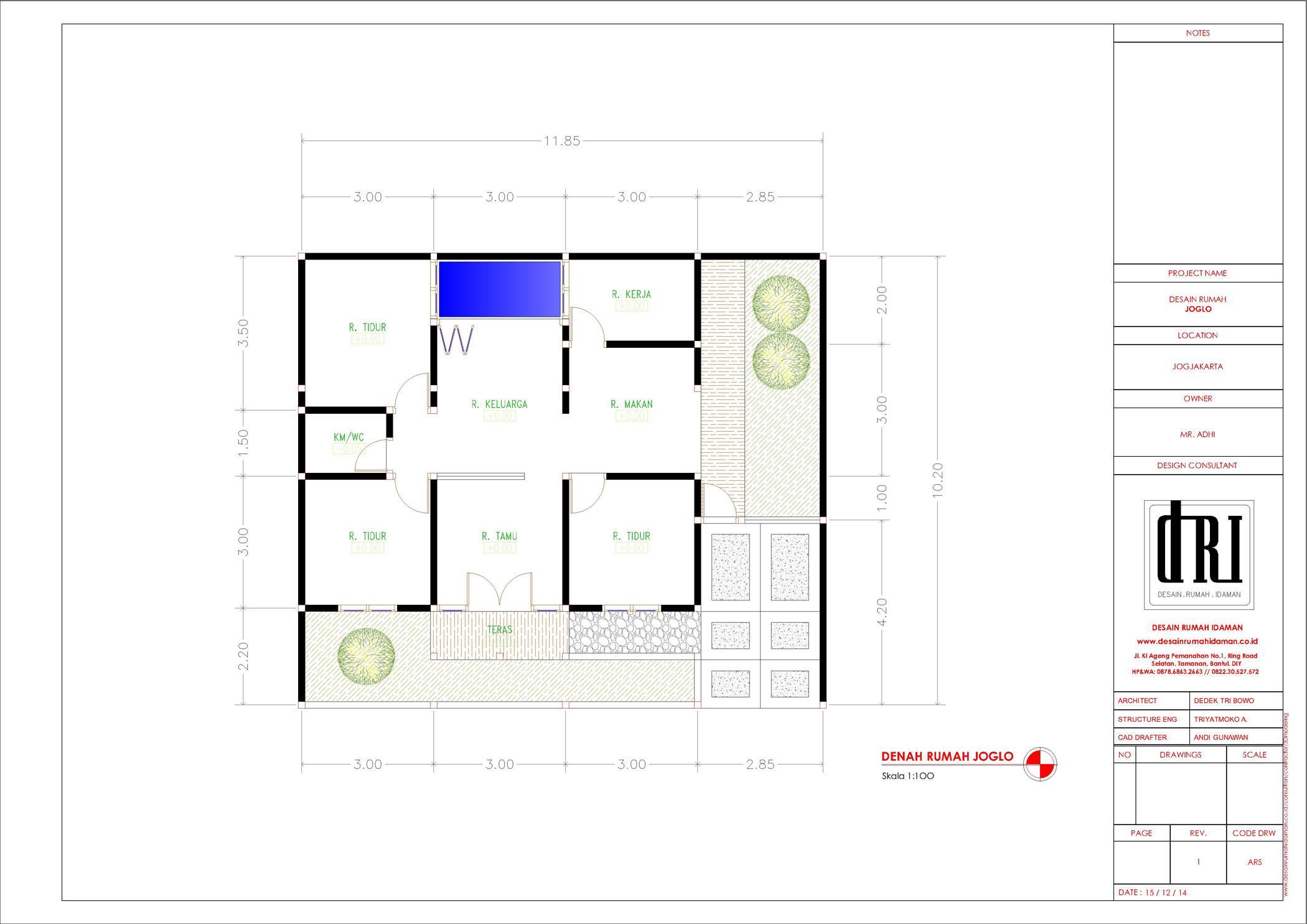 30 Contoh Gambar Denah Rumah Joglo Terbaru Koleksi Gambar
