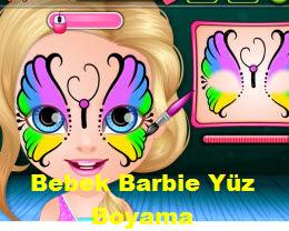 Bebek Barbie Yüz Boyama Oyna