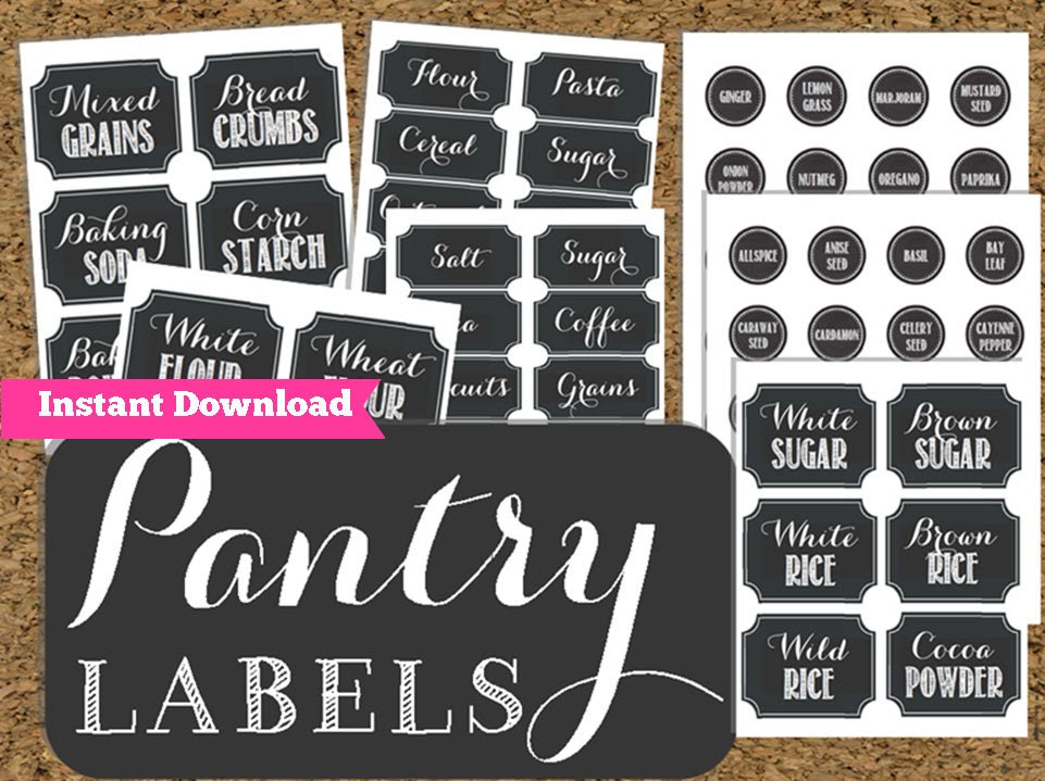 Pantry labels | Etsy