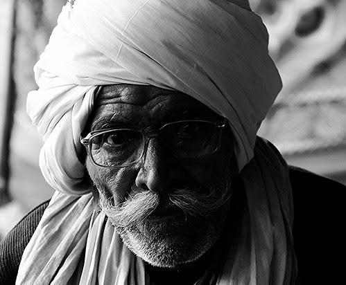 Old Man - You are lucky you were born in India by firoze shakir photographerno1