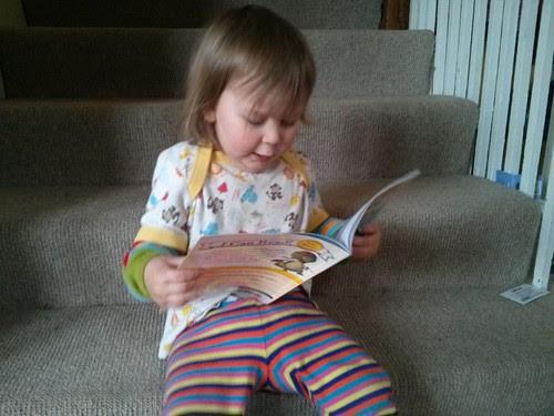 Reading Digger the Dinosaur
