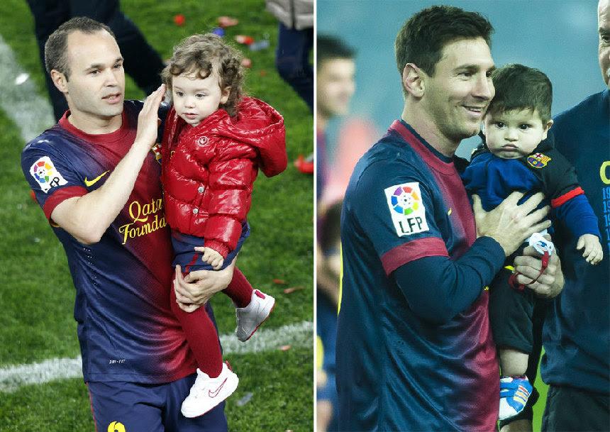 Los Jugadores Del Barça Celebran Con Sus Hijos El Título De Liga En