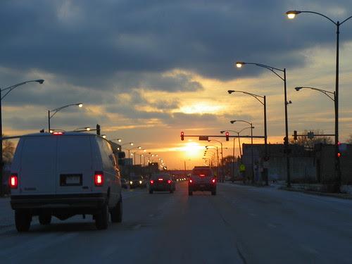 1.30.2010 Chicago (6) sunset