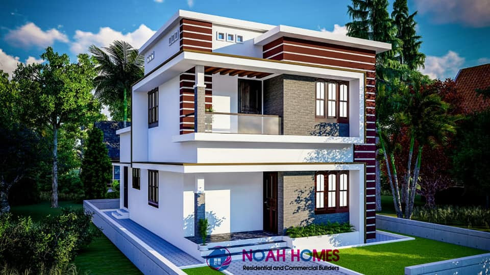 1280 Square Feet 3 Bedroom Modern Double Floor House And Plan Home Pictures