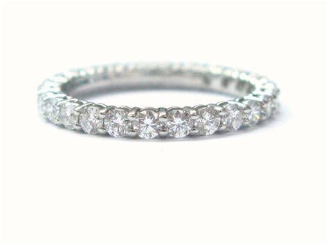Tiffany & Co Platinum Diamond Shared Eternity Band Ring