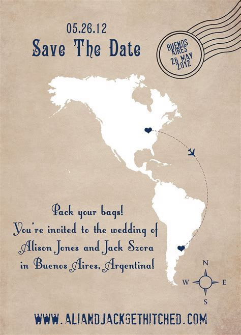 Destination Wedding Save the Date Cards, Go To www