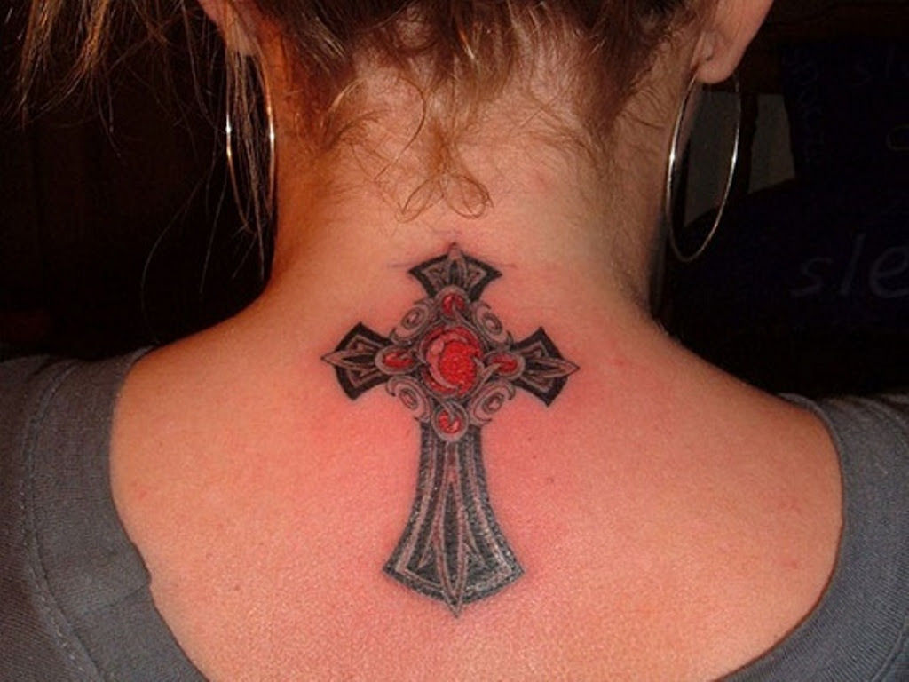 35 Spiritual Cross Neck Tattoos