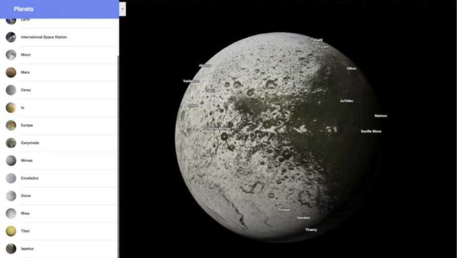 Google Maps The Solar System For Armchair Space Travelers
