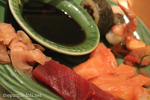 Plate - Sashimi, Sushi and Maki