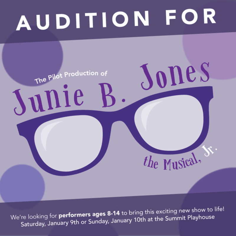 Announcing auditions for a very special pilot production of the brand new Junie B. Jones_ JR_ Seeking performers ages 8-14. Sign-ups now live_